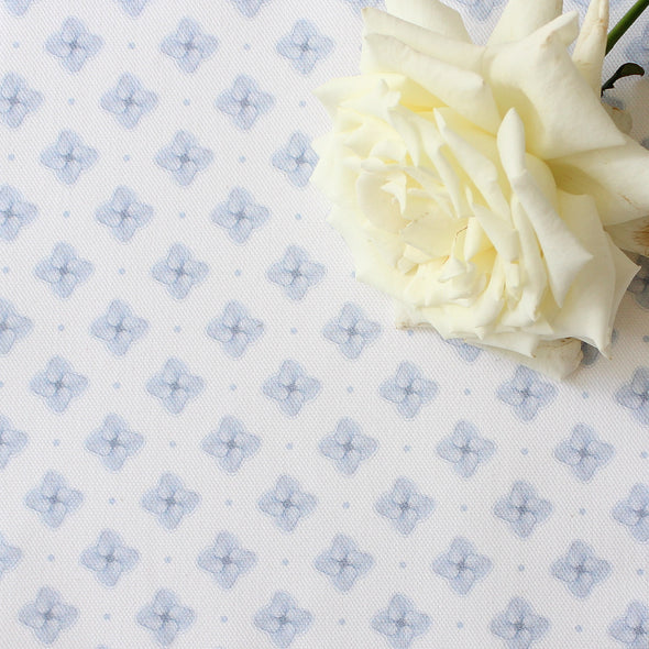 Hydrangea Petal cotton linen fabric blue