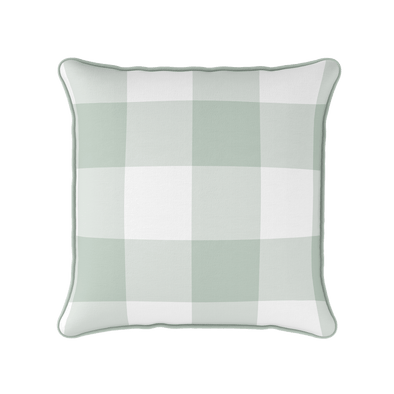 EaudeNil jumbo gingham check cushion