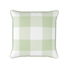 green jumbo gingham check cushion