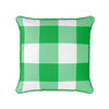 emerald green jumbo gingham check cushion