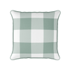 Eucalyptus green  jumbo gingham check cushion