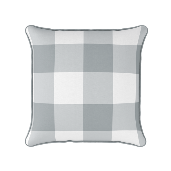 koala grey jumbo gingham check cushion