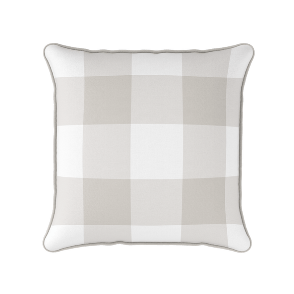 linen jumbo gingham check cushion