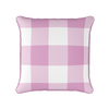 tickled pink jumbo gingham check cushion