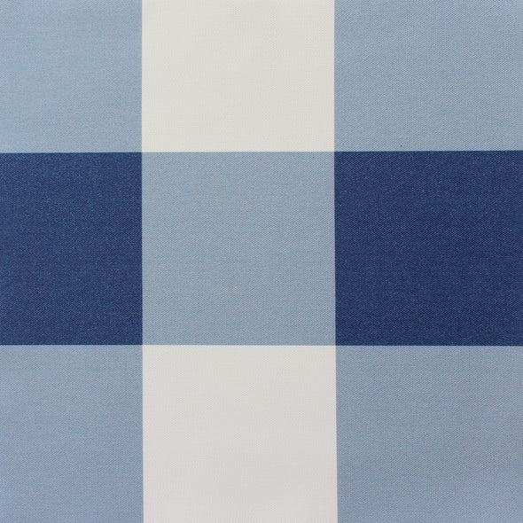 Jumbo gingham check cotton linen fabric navy blue