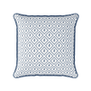Little leaf navy blue botanical piped cushion