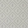 Dove grey little leaf pattern cotton linen fabric
