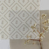 Natural linen little leaf pattern cotton linen fabric