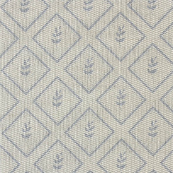 Serenity pale blue little leaf pattern cotton linen fabric