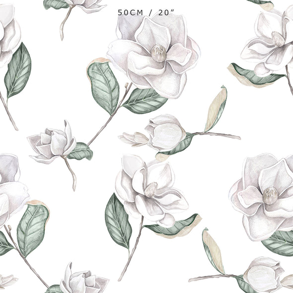 Magnolia Fabric - White