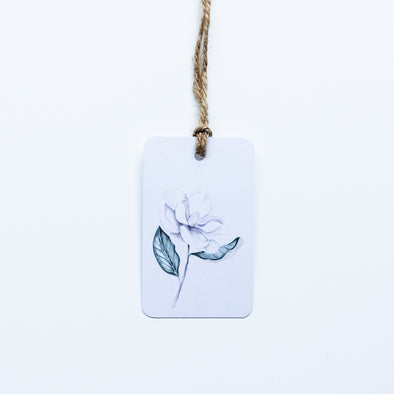 Magnolia Flower Gift Tag