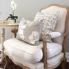 Greek Gate rustic neutral cushion
