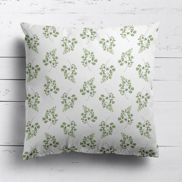 Maiden hair fern cotton linen cushion
