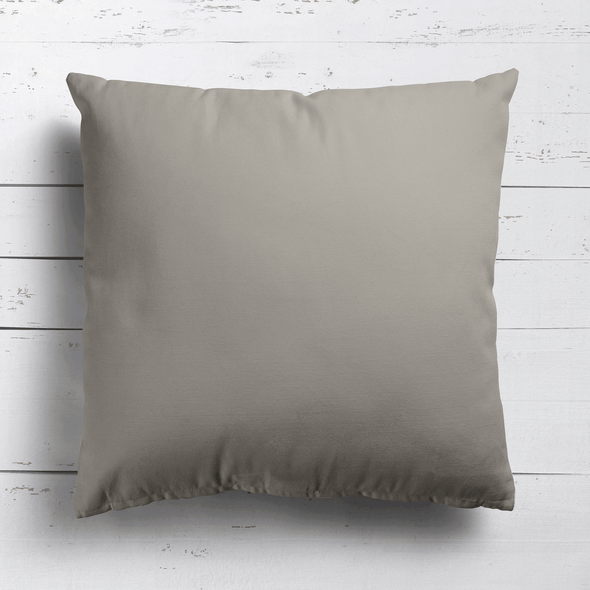 Chateaux beige perfectly plain cotton linen fabric cushion