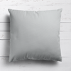 Dove grey perfectly plain cotton linen fabric cushion