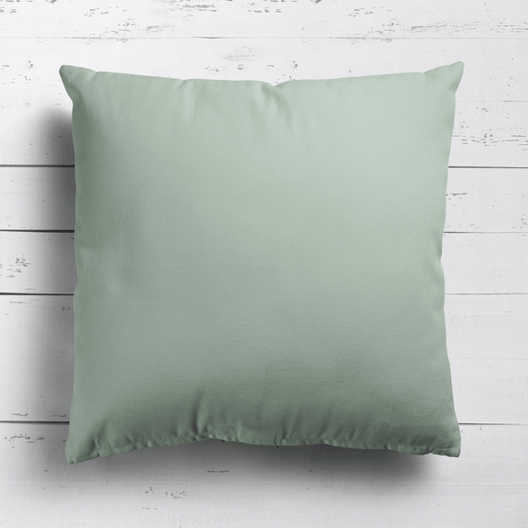 Eau De Nil Green perfectly plain cotton linen fabric cushion