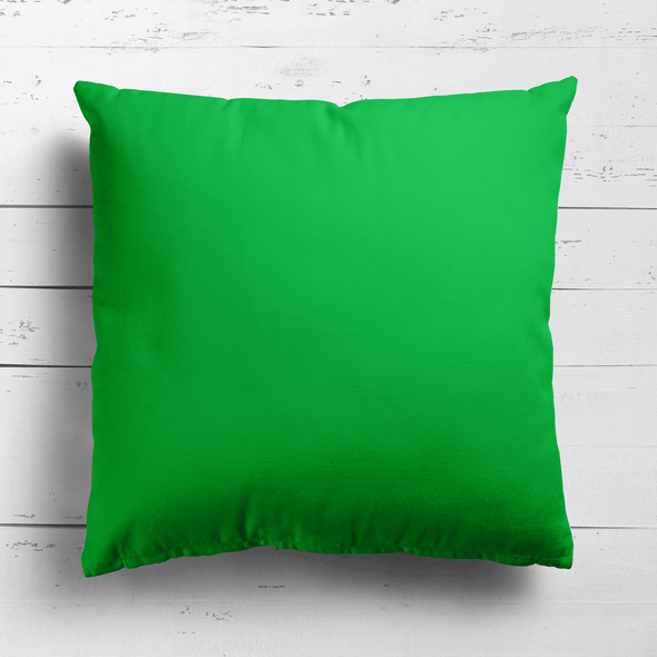 Emerald green perfectly plain cotton linen fabric cushion