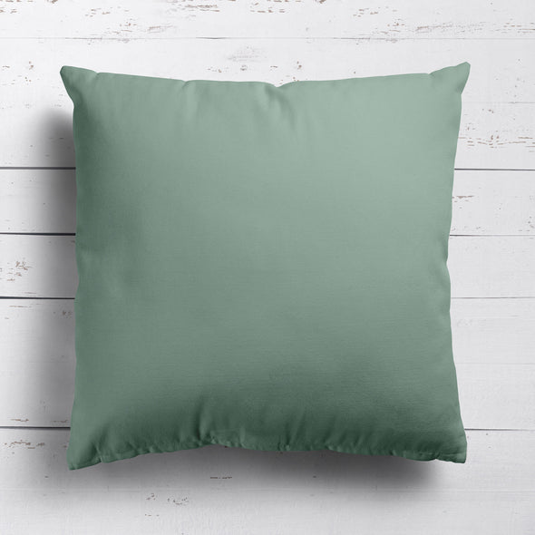 Eucalyptus green perfectly plain cotton linen fabric cushion