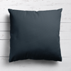 Graphite grey perfectly plain cotton linen fabric cushion