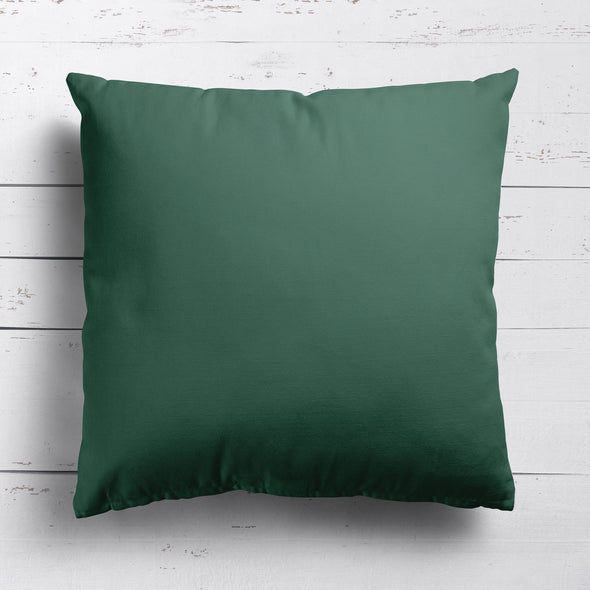 Leaf green perfectly plain cotton linen fabric cushion