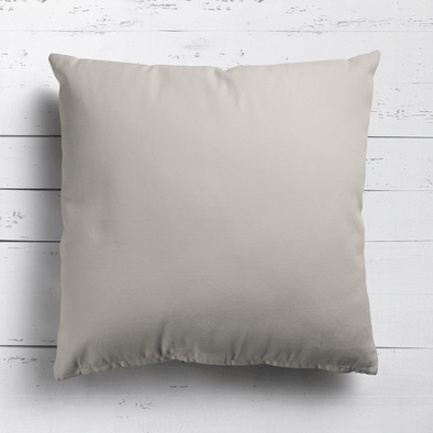 Neutral beige perfectly plain cotton linen fabric cushion