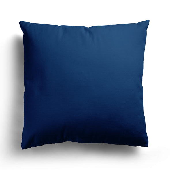 Navy blue perfectly plain cotton linen fabric cushion
