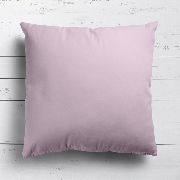 Peony pink perfectly plain cotton linen fabric cushion