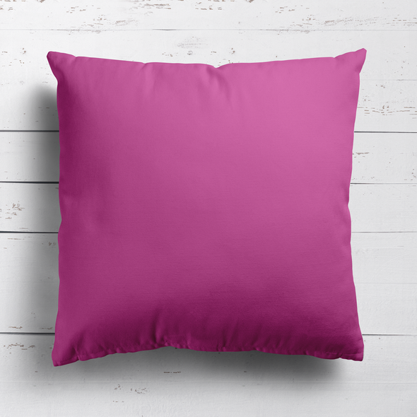 Raspberry pink perfectly plain cotton linen fabric cushion