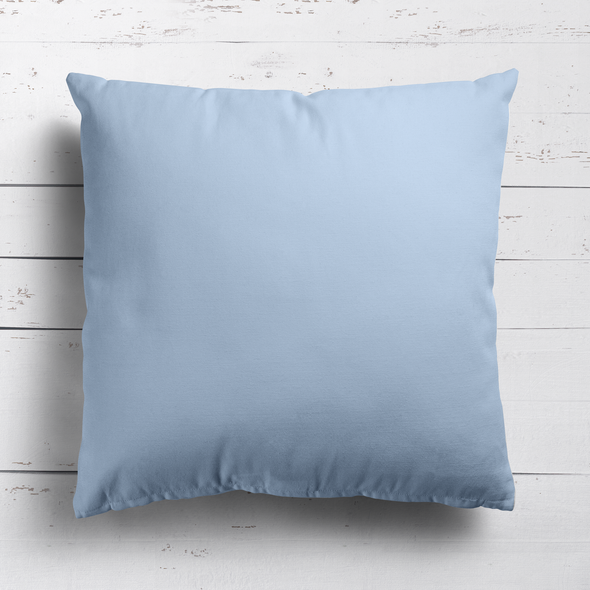 Serenity blue perfectly plain cotton linen fabric cushion