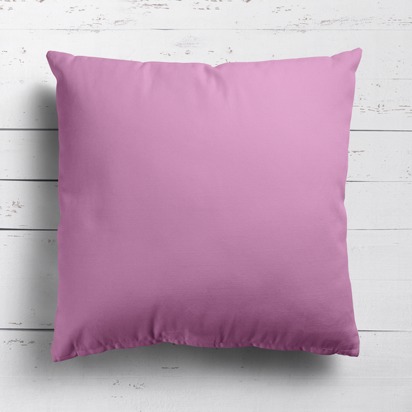 Tickled pink perfectly plain cotton linen fabric cushion