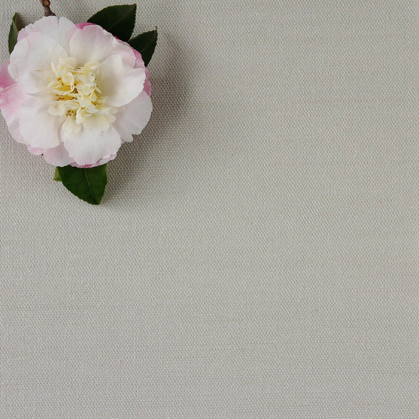 Dove grey perfectly plain cotton linen fabric