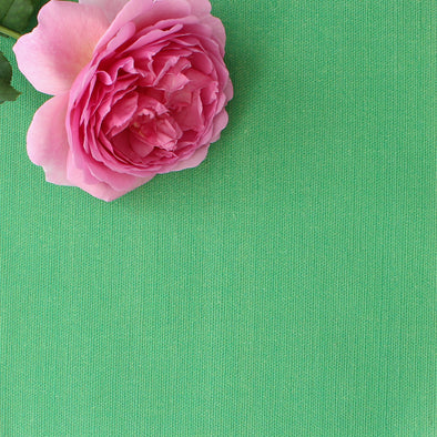 Emerald green perfectly plain cotton linen fabric