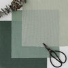 Perfectly Plain green mix cotton linen fabric