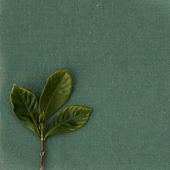 Leaf deep green Perfectly Plain cotton linen fabric