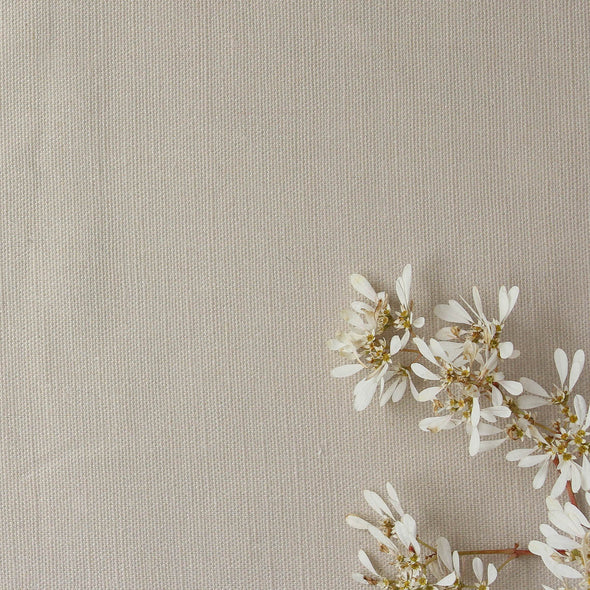 Natural Linen perfectly plain cotton linen fabric