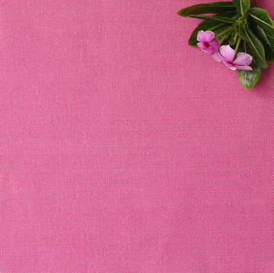 Raspberry pink perfectly plain cotton linen fabric