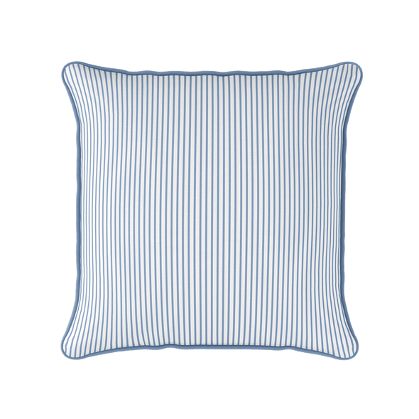 blue white stripes cushion