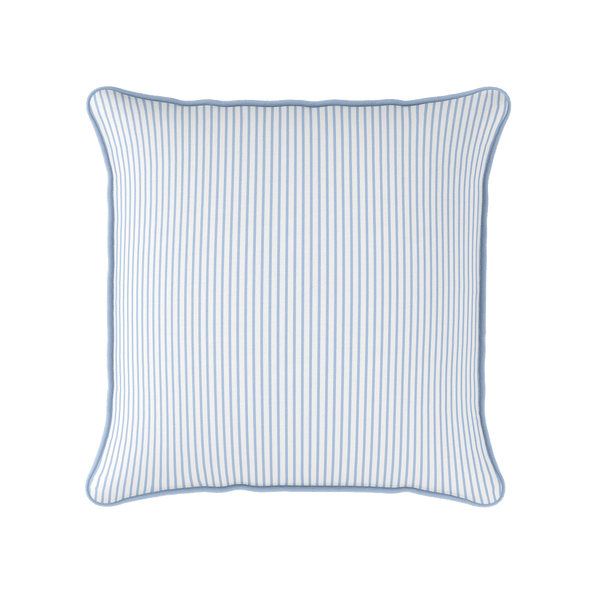 cornflower blue striped cushion
