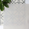 Petite Stripe cotton linen fabric in Dove grey