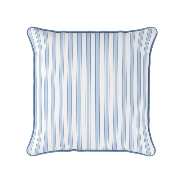 coastal multi stripe piped cushion