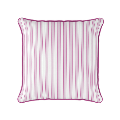 Pink twin stripe piped cushion