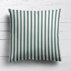 dark green stripes cushion