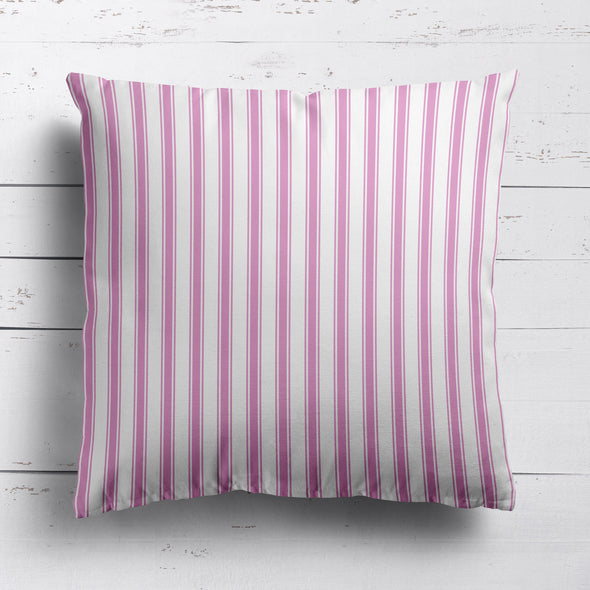 Regatta Stripe cotton linen fabric Tickled pink