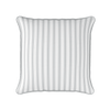bordered stripe grey piped cushion