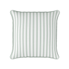 Bordered Stripe green piped cushion