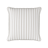 bordered stripe beige piped cushion
