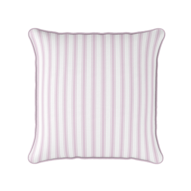 bordered stripe pink piped cushion