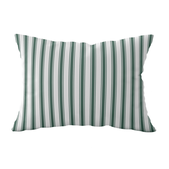 dark green stripe cushion