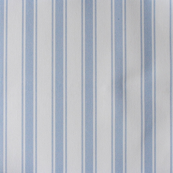 Regatta Stripe cotton linen fabric Cornflower blue