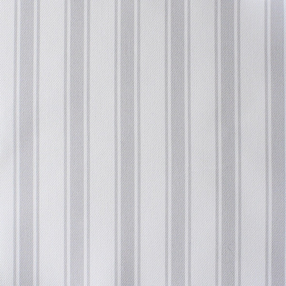 Regatta Stripe cotton linen fabric Dove pale grey